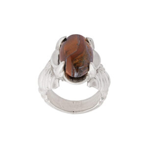 انگشتر نقره مردانه کد 2RZ027